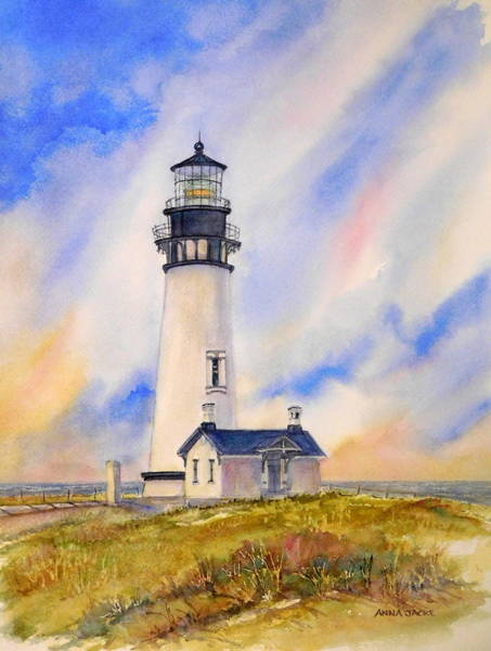 Painting - Yaquina Head Lighthouse by Anna Jacke