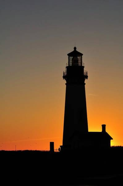 Photograph - Yaquina Head Lighthouse 10087 by Jerry Sodorff