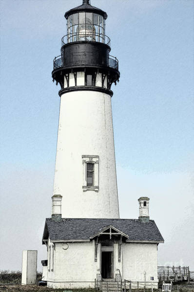 Digital Art - Yaquina Head Lighthouse In Watercolor by Kirt Tisdale
