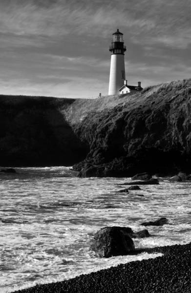 Photograph - Yaquina Head Lighthouse by Lara Ellis