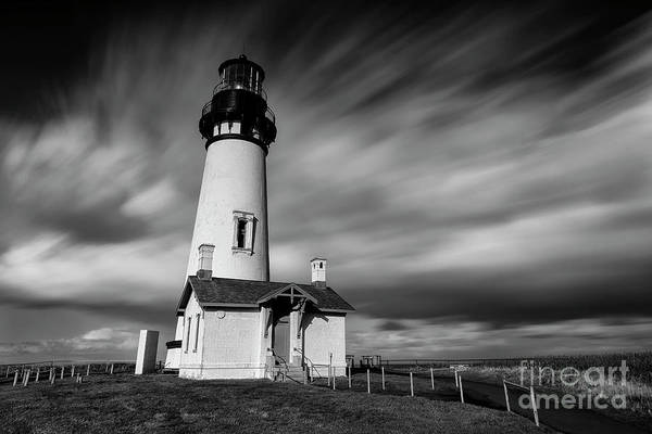 Outstanding Photograph - Yaquina Head Lighthouse by Masako Metz