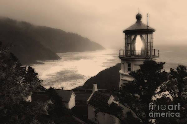 Heceta Head Lighthouse Photograph - Heceta Head Lighthouse Oregon 2 by Bob Christopher