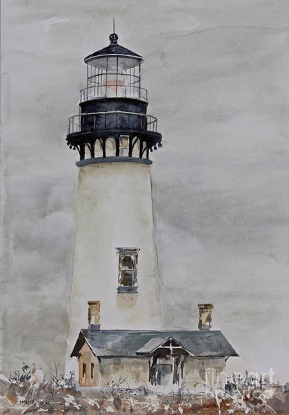 Painting - Yaquina Head by Monte Toon