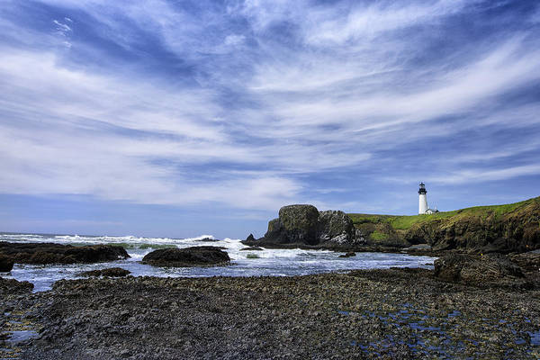 Photograph - Yaquina Lighthouse by John Kiss