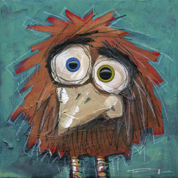 Painting - Yardbird With Eyes by Tim Nyberg