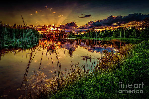 Photograph - Yarker Sunset by Roger Monahan