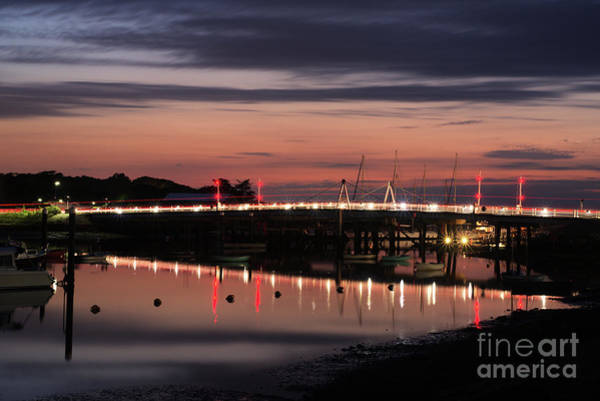 Photograph - Yarmouth Bridge Lit Up At Night by Clayton Bastiani