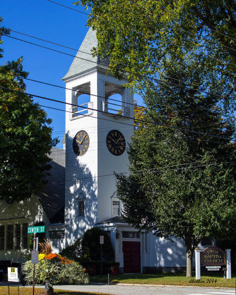 Wall Art - Photograph - Yarmouth, Me.  First Baptist by Dick Botkin