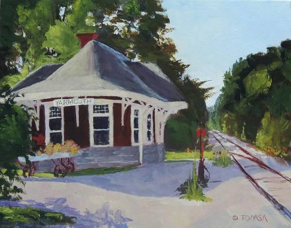 Railroad Station Painting - Yarmouth Station - Art By Bill Tomsa by Bill Tomsa