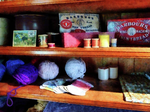 Photograph - Yarn And Thread In General Store by Susan Savad