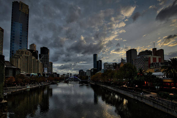Photograph - Yarra River Sunset, Melbourne by Ross Henton
