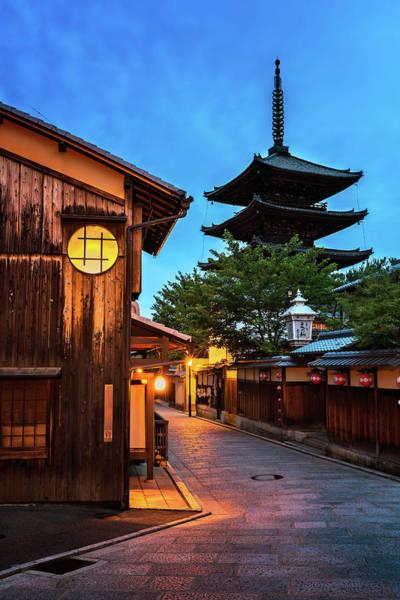 Kansai Region Wall Art - Photograph - Yasaka Pagoda And Sannen Zaka Street In The Morning, Kyoto, Japa by Andrey Omelyanchuk