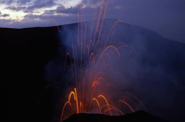 Yasur Photograph - Yasur Volcano Erupting In Tanna Vanuatu by Sami Sarkis