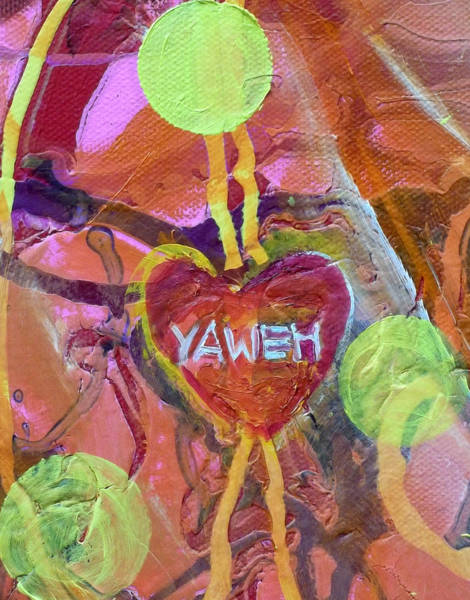 Painting - Yaweh Detail 2 From Theology Of The Body by Anne Cameron Cutri
