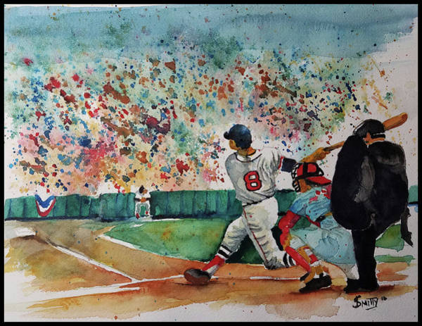 Hitter Painting - Yaz At The Plate by F Smith