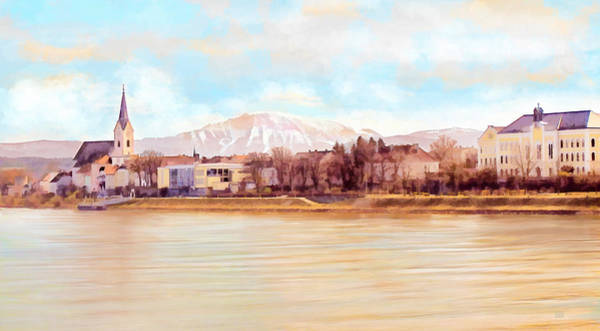 Painting - Ybbs An Der Donau Mit Oetscher by Menega Sabidussi