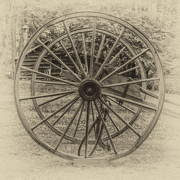 Wagon Wheel Digital Art - Ye Olde Wagon Wheels by John Haldane