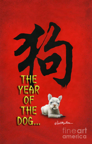 Wall Art - Painting - Year Of The Dog ... 2018 by Will Bullas