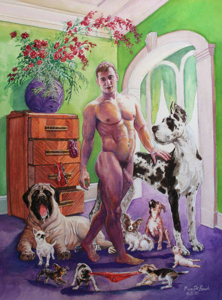 Painting - Year Of The Dog by Marc DeBauch