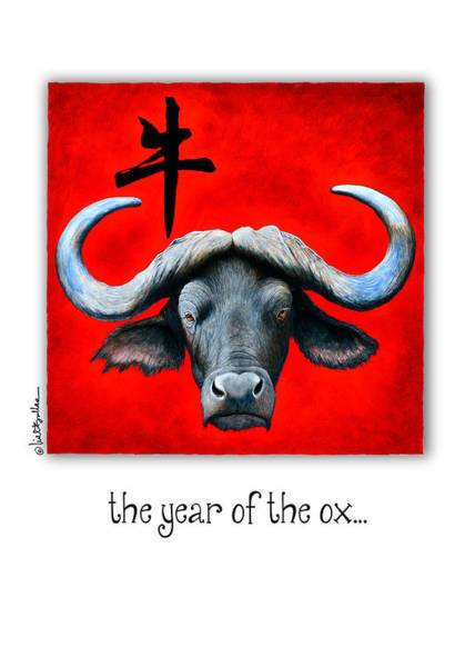 Signs Of The Zodiac Painting - Year Of The Ox... by Will Bullas