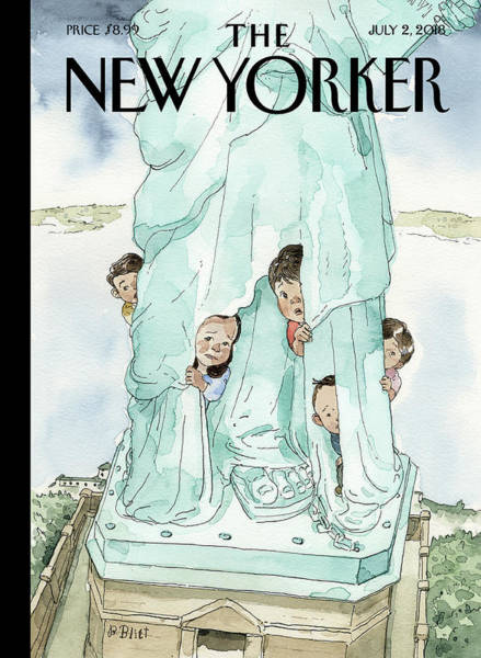 Families Drawing - Yearning To Breathe Free by Barry Blitt
