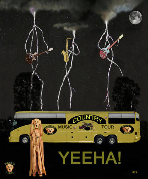 Mixed Media - Yeeha Country Music Tour by Eric Kempson
