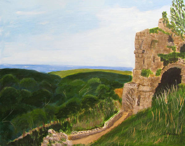 Painting - Yehiam Fortress by Linda Feinberg