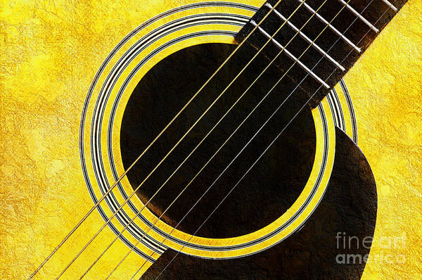 Andee Photograph - Yellow 2 Guitar by Andee Design