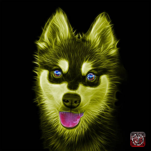 Painting - Yellow Alaskan Klee Kai - 6029 -bb by James Ahn