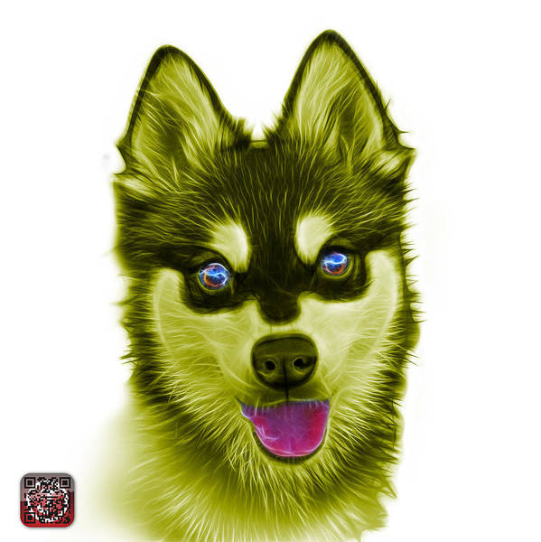 Painting - Yellow Alaskan Klee Kai - 6029 -wb by James Ahn