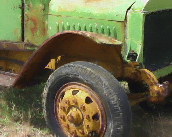 Rusty Truck Digital Art - Yellow And Green by David King