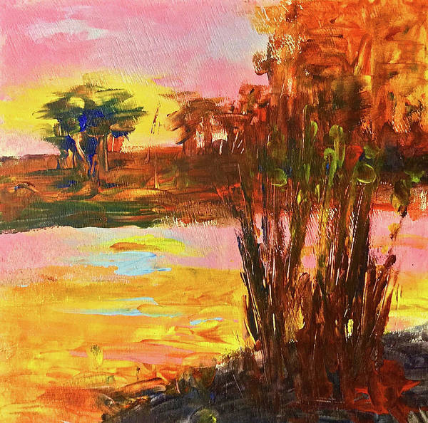 Port Townsend Painting - Yellow And Pink by James Murphy