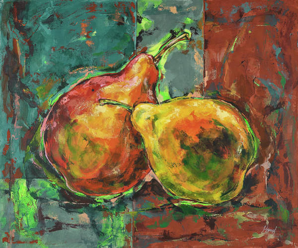 Painting - Yellow And Red Pears by Maria Arnaudova