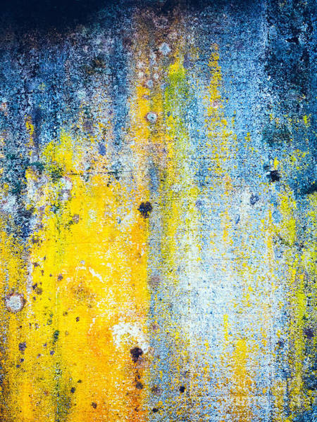 Photograph - Yellow And White Abstract Wall by Silvia Ganora
