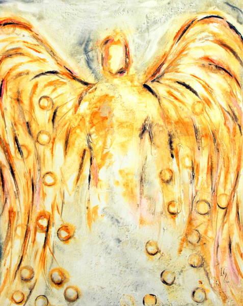 Wall Art - Mixed Media - Yellow Angel by Ivan Guaderrama