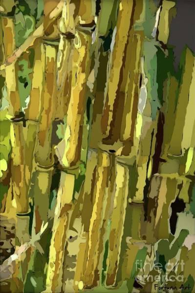 Wall Art - Digital Art - Yellow Bamboo by Dragica Micki Fortuna