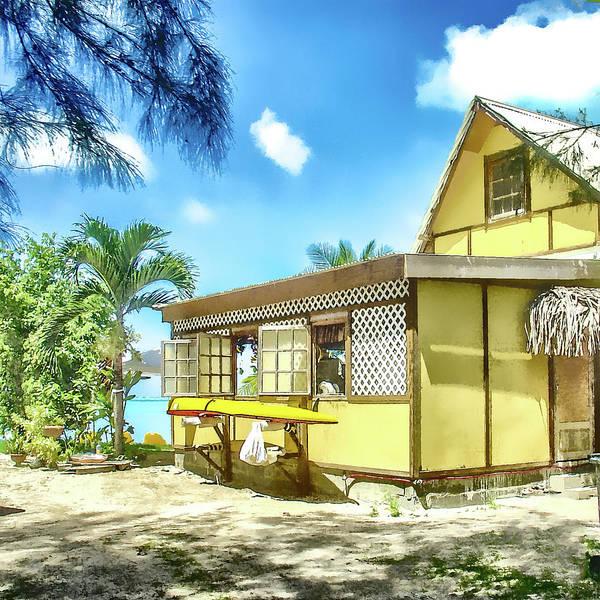 Photograph - Yellow Beach Bungalow Bora Bora by Julie Palencia