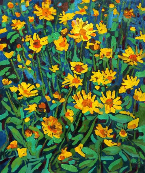 Wall Art - Painting - Yellow Beauties by Phil Chadwick