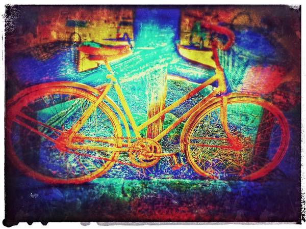 Photograph - Yellow Bicycle by Christine Paris