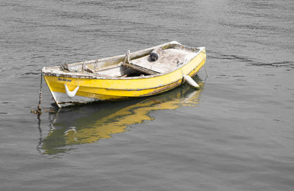 Photograph - Yellow Boat by Helen Northcott