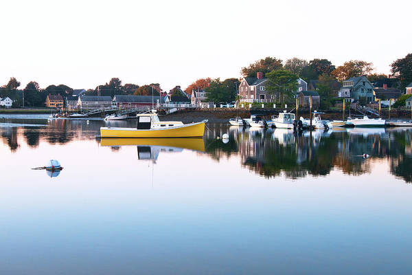 Wall Art - Photograph - Yellow Boat In The South End - Portsmouth by Eric Gendron