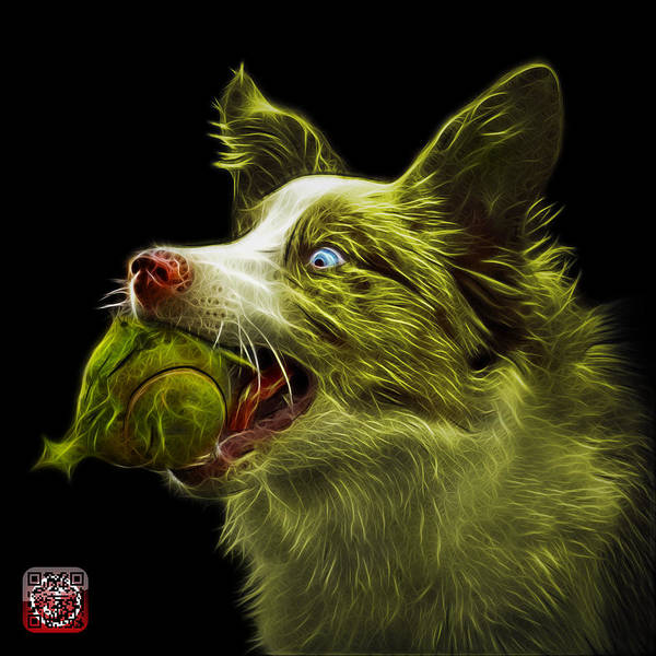 Painting - Yellow Border Collie -  Elska - 9847 - Bb by James Ahn