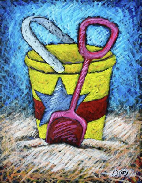 Wall Art - Painting - Yellow Bucket by Karla Beatty