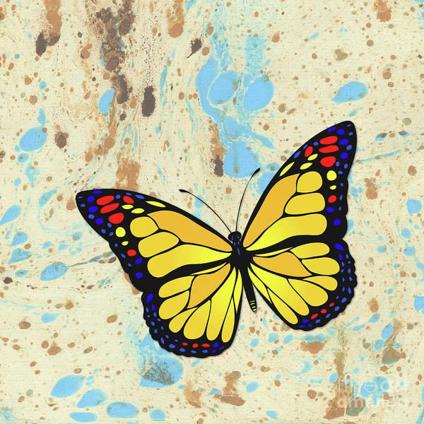 Wall Art - Digital Art - Yellow Butterfly Design. by Gaspar Avila
