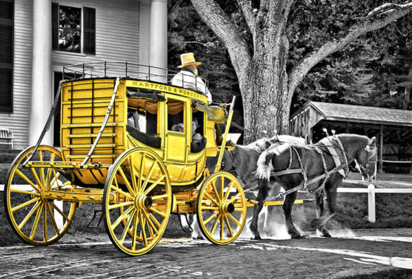 Colonial Wall Art - Photograph - Yellow Carriage by Evelina Kremsdorf