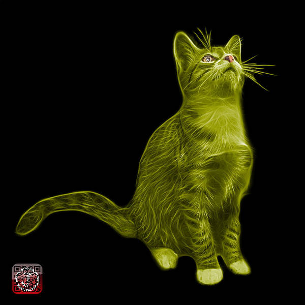 Painting - Yellow Cat Art - 3771 Bb by James Ahn