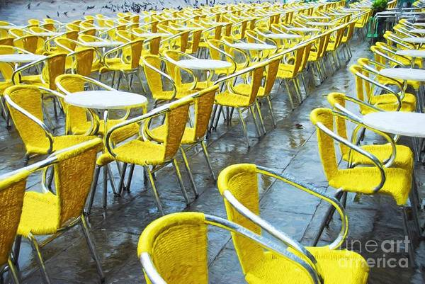 Photograph - Yellow Chairs In Venice by Mel Steinhauer
