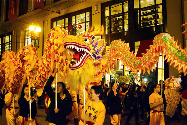 Photograph - Yellow Chinese Dragon by Bonnie Follett