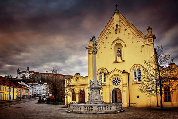 Carol Photograph - Yellow Church In Bratislava  by Carol Japp