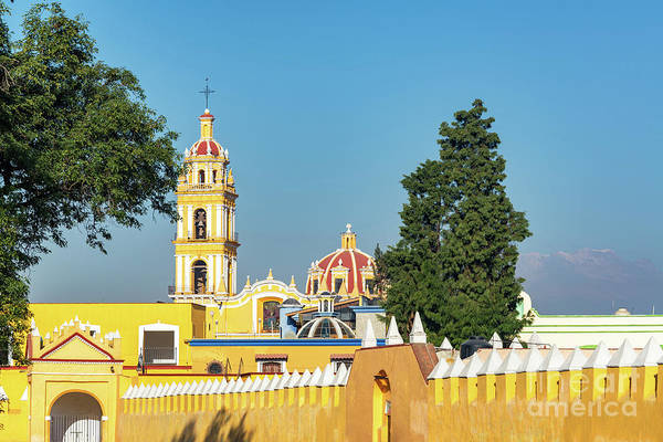 Wall Art - Photograph - Yellow Church In Cholula, Mexico by Jess Kraft